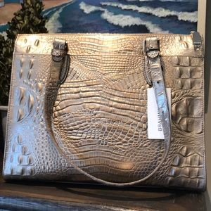 NWT BRAHMIN ANYWHERE TOTE IN ROSE GOLD